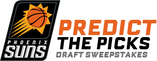 Phoenix Suns Predict the PIcks draft sweepstakes logo