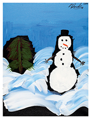 Schmaltzy the Snowman wishes you a happy holiday season!